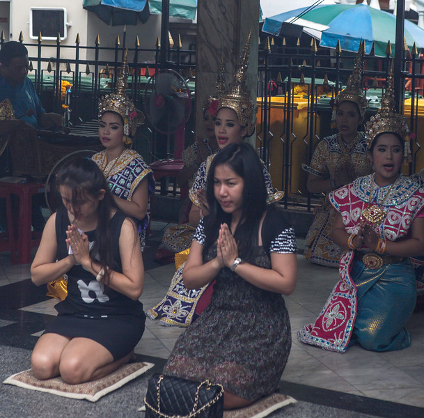 Service at the Erawan Shrine in Bangkok.
