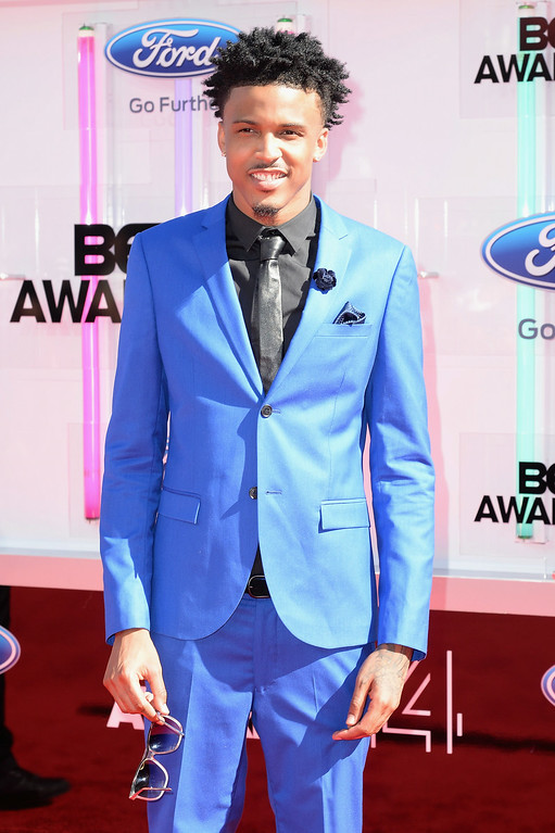 . Singer August Alsina attends the BET AWARDS \'14 at Nokia Theatre L.A. LIVE on June 29, 2014 in Los Angeles, California.  (Photo by Earl Gibson III/Getty Images for BET)