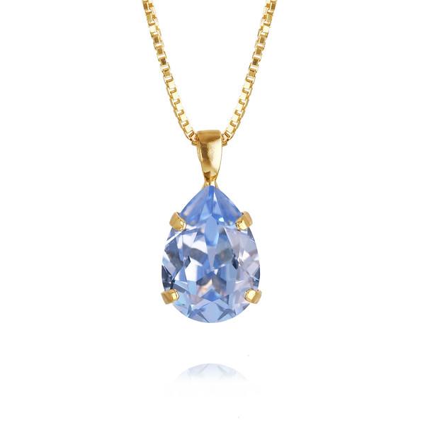 Mini Drop Necklace / Light Sapphire