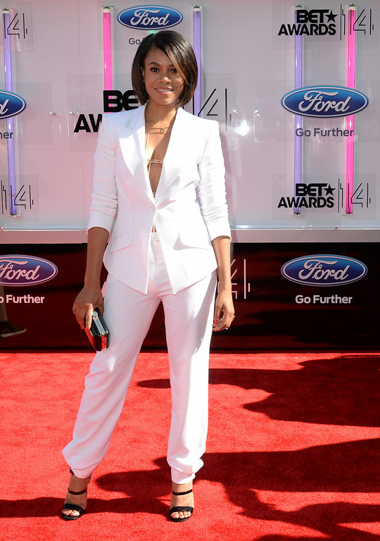 . Actress Regina Hall attends the BET AWARDS \'14 at Nokia Theatre L.A. LIVE on June 29, 2014 in Los Angeles, California.  (Photo by Earl Gibson III/Getty Images for BET)