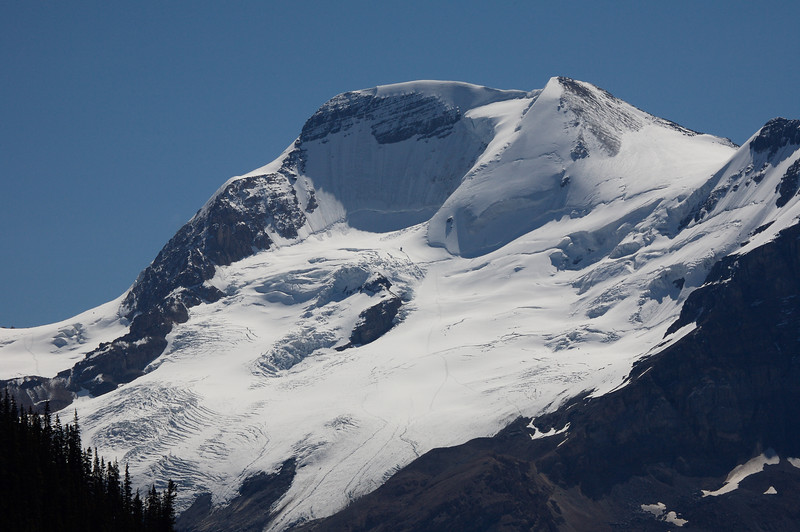 One of the mountains near the icefields