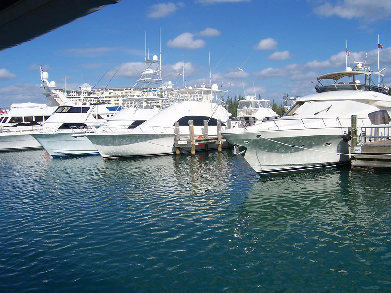 Shot of the marina.  Just a few yachts.  Plan to park ours here as soon as we save up that extra million dollars.