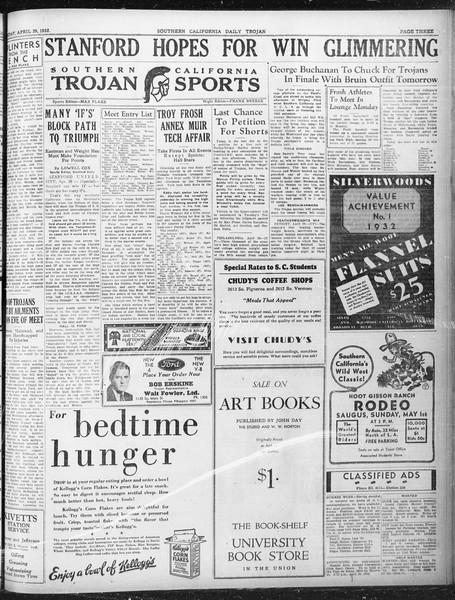 Daily Trojan, Vol. 23, No. 135, April 29, 1932