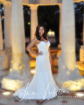 Mecom Fountain Bridal Session