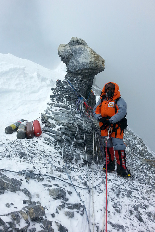 . In this photograph received from the SOCIAL WELFARE RESIDENTIAL EDUCATIONAL INSTITUTIONS SOCIETY on June 2, 2014 and taken on May 25, 2014, Indian mountaineer Poorna Malavath looks on during her summit attempt on Mount Everest. AFP PHOTO/SOCIAL WELFARE RESIDENTIAL EDUCATIONAL INSTITUTIONS SOCIETYAFP/Getty Images