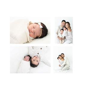 Studio style newborn portraits La Jolla