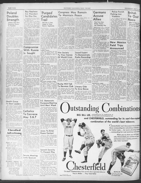 Daily Trojan, Vol. 30, No. 128, May 03, 1939