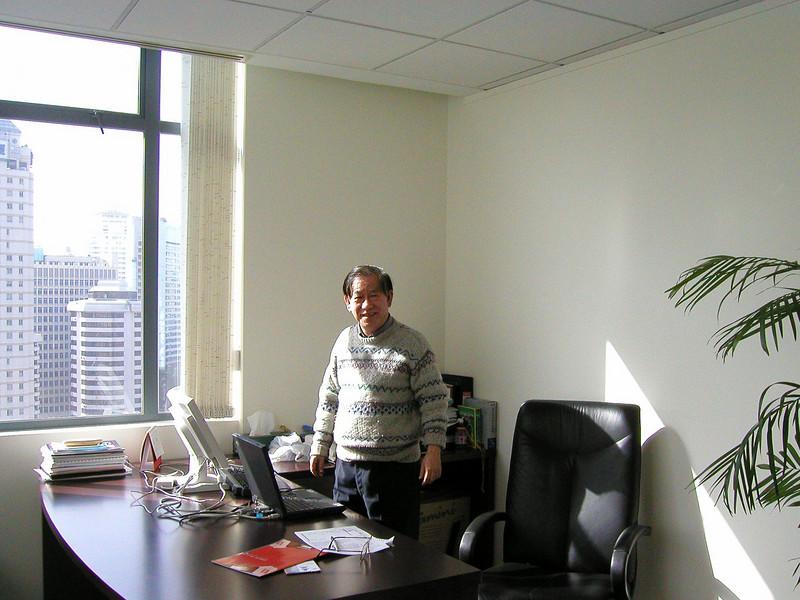 Dan in his Shanghai office , 2002 Shanghai Atmosphere