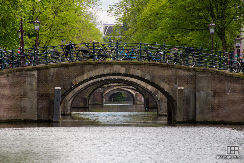 Six of the seven bridges of Amsterdam (Reguliersgracht)