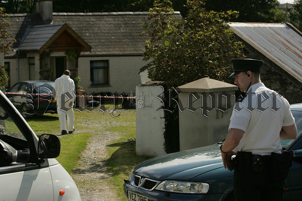 The Scene at the Edentrumly Road outside Mayobridge were two bodies were discovered on Tuesday. Picture Peter Clarke. 07W35N29