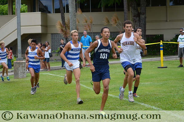 Punahou Invit VarsBoys Cross Country 2012
