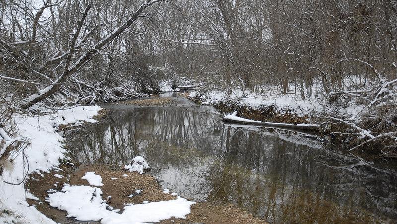 A SNOWY SPRINGDALE LAKE