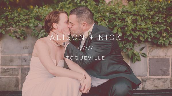ALISON + NICK ////// TOQUEVILLE