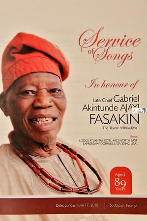 Chief  Gabriel  Akintunde  Ajayi Fasakin