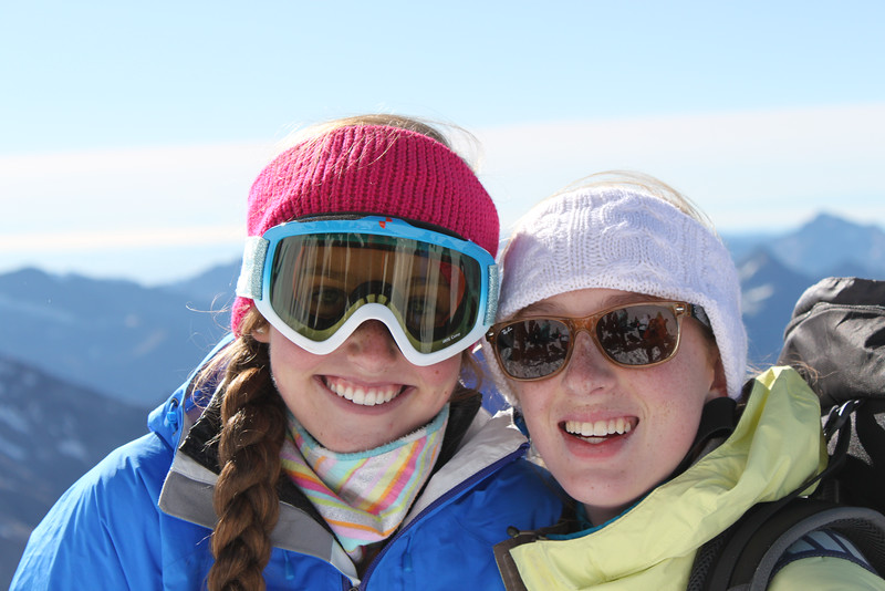 Kate and Lucia on Breithorn.