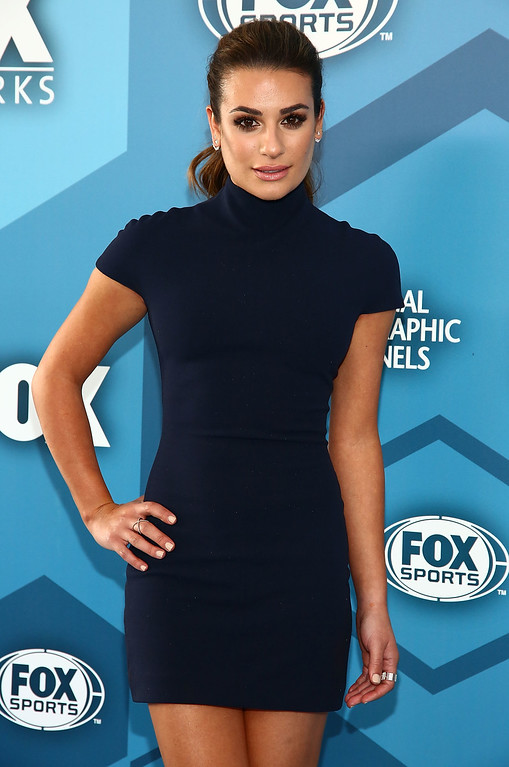 . NEW YORK, NY - MAY 16:  Actress Lea Michele attends FOX 2016 Upfront Arrivals at Wollman Rink, Central Park on May 16, 2016 in New York City.  (Photo by Astrid Stawiarz/Getty Images)
