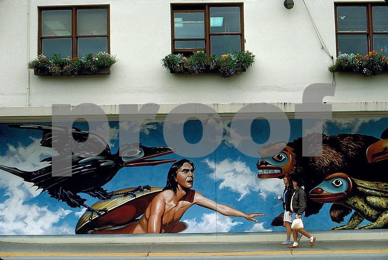 Wall mural, Juneau, Alaska