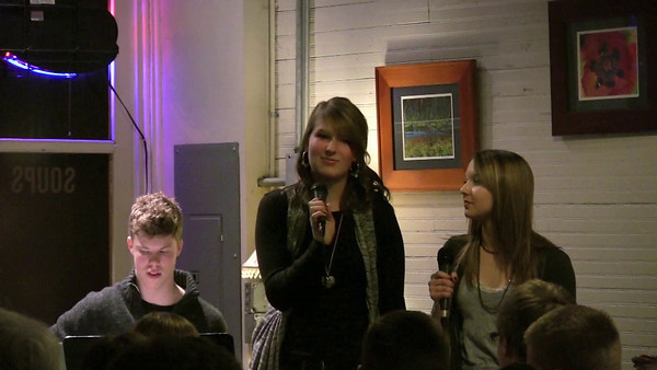 Jazz Cafe - Jessica and Grace at the Duvall Coffee House 1-22-11