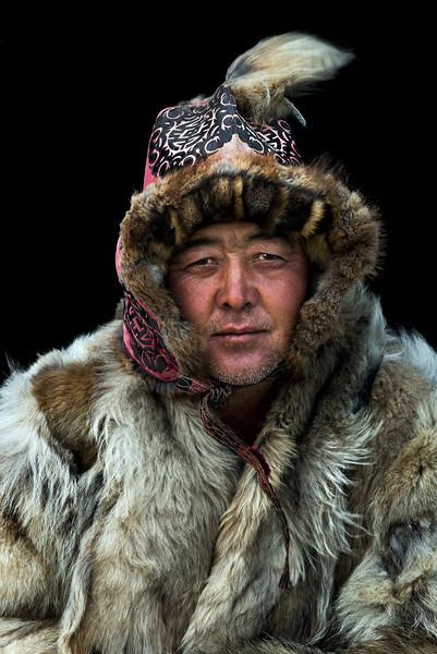 Kazakh eagle hunter.