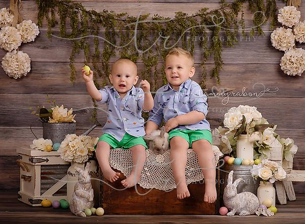 Samuel & Will~Easter Bunny