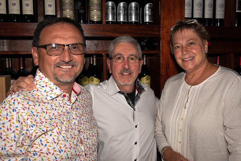 Jeff Salazar, Lew Brown, and Patsy Hanslik (l-r)