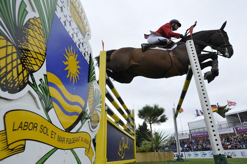 JUMPING : Dirk DEMEERSMAN sur Bufero Vh Panishof COUPE DES NATIONS 2012 -  CSIO DE LA BAULE 2012 - PHOTO : © CHRISTOPHE BRICOT