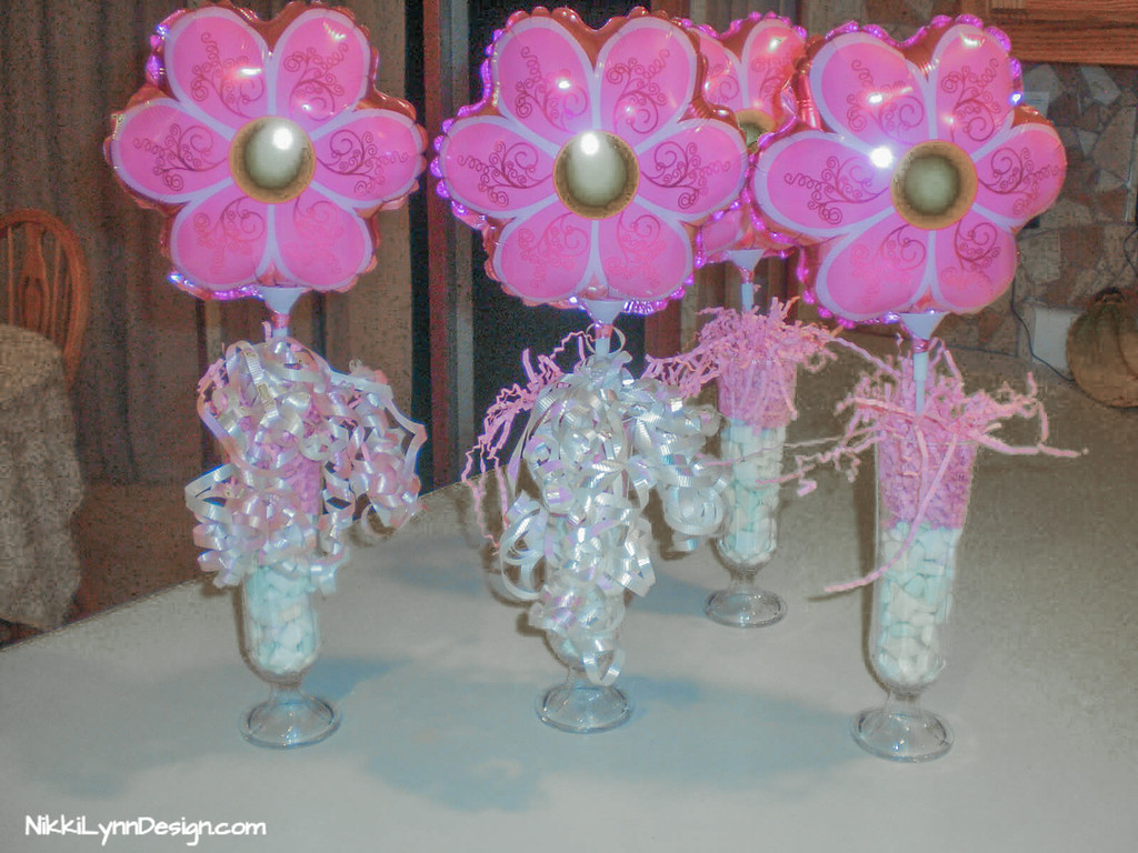 Table Top Baby Shower Vases