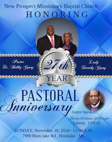 Pastor & First Lady 27th Church Anniversary