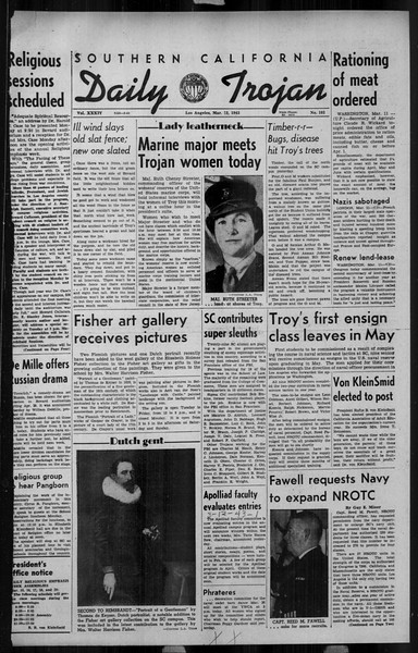 Daily Trojan, Vol. 34, No. 103, March 12, 1943