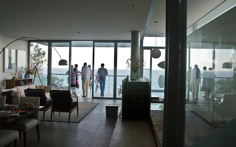 A different, early evening, view over the ocean - from a friend's ultra-modern house (4)