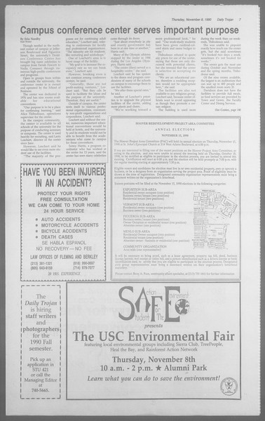 Daily Trojan, Vol. 113, No. 47, November 08, 1990