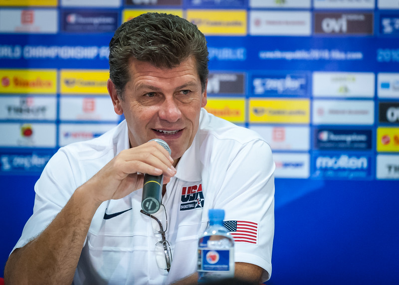 Team USA head coach Geno Auriemma