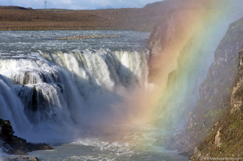 Godafoss with rainbow @ Iceland 31Jul09
