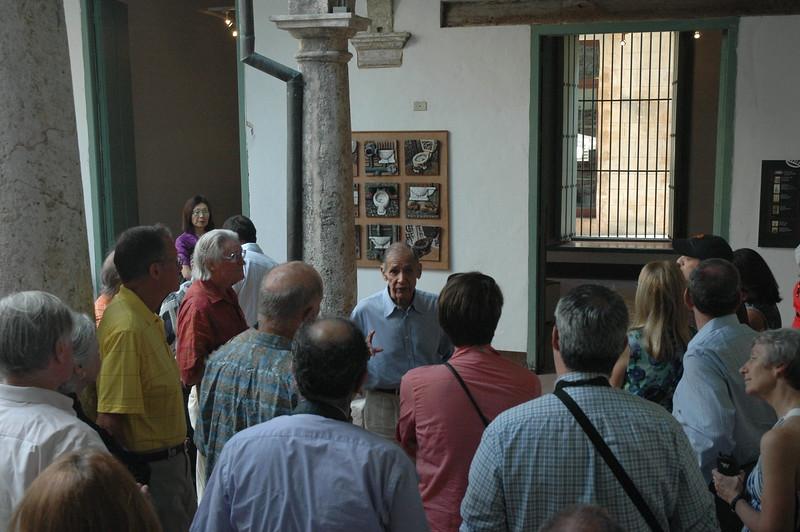 Alejandro Alonzo at the Ceramics Museum, Havana - Leslie Rowley