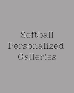 Softball personalized galleries