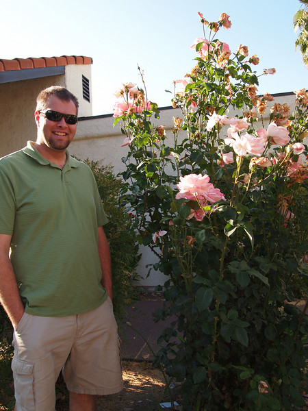 OLYMPUS DIGITAL CAMERA - Look roses are taller than me.