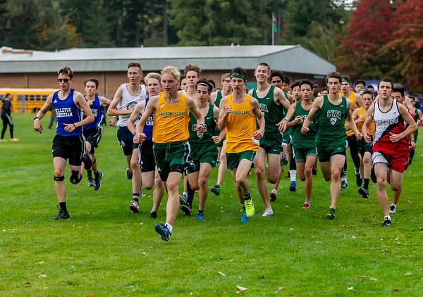 High School Boys Race, Cross Country Nisqually Meet 2 on Vashon Island 2018 10/02/2018