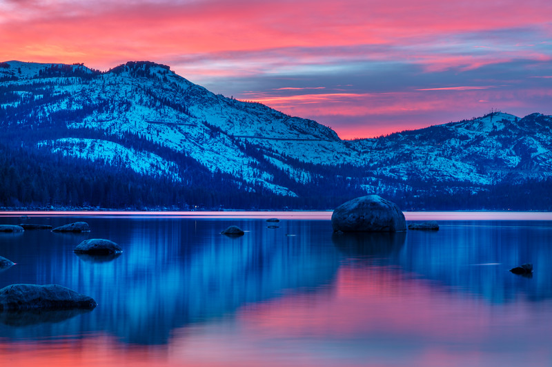 Donner Lake Pink & Blue