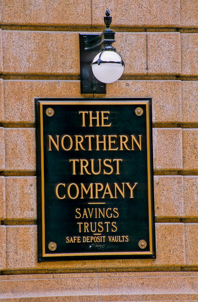Northern Trust Bank architectural detail
