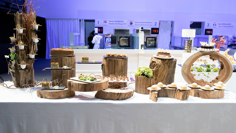 Le buffet de L'équipe de Singapour, qui à remporté le Trophée Bronze
