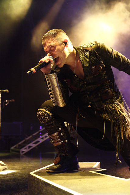 Description of . Brent Smith of Shinedown performs in the Carnival of Madness tour at DTE Energy Music Theatre in Independence Twp., on Aug. 27, 2013. Photo by Ken Settle