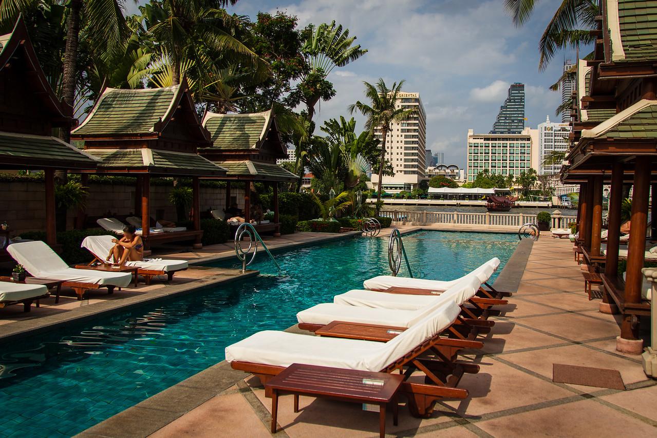 Riverside Pool at the Peninsula Hotel BKK