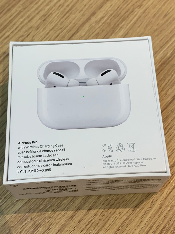 AirPods Pro with Wireless Charging Case Back of the Box