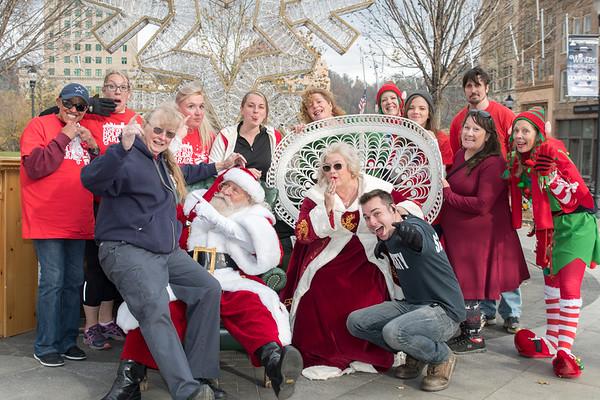 2017 Asheville Holidays Parade Portraits with Santa