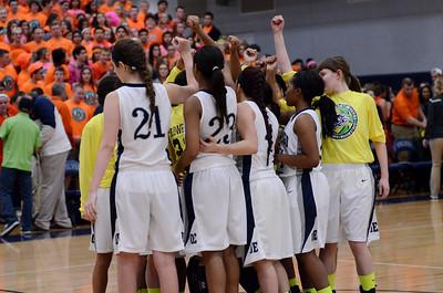 Oswego East Girls varsity Basketball Vs Oswego 2014