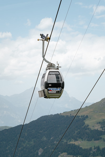 Cable car in Verbier