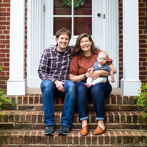 Christina & Brian's Front Porch Portraits