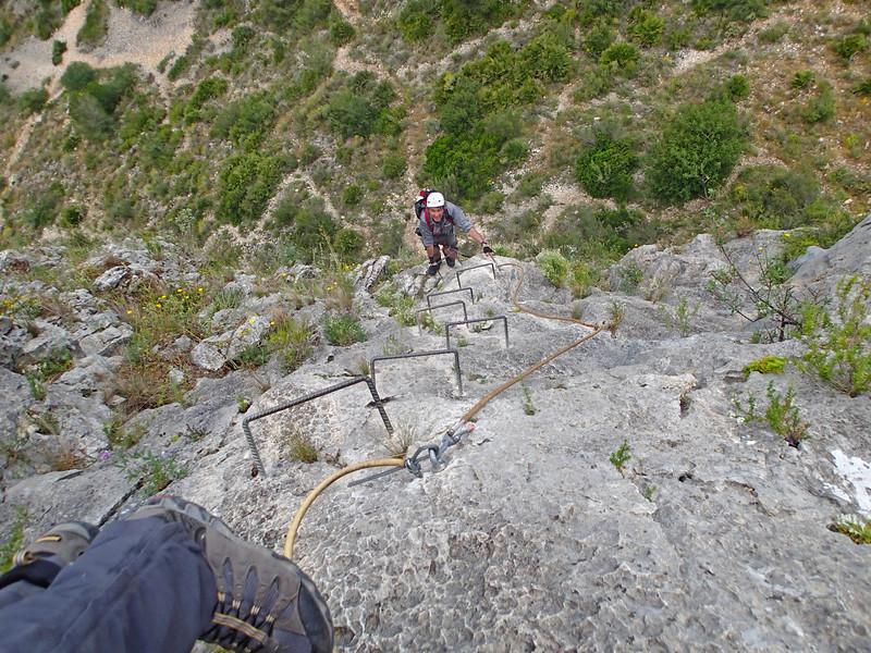 Philippe on the Aventador climb