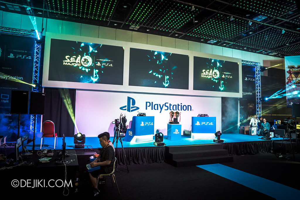 GameStart 2016 - PlayStation booth with tournaments