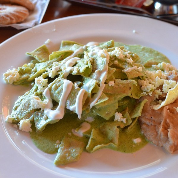 Chilaquiles verdes at Restaurant Los Panchos | Things to do in Mazatlan